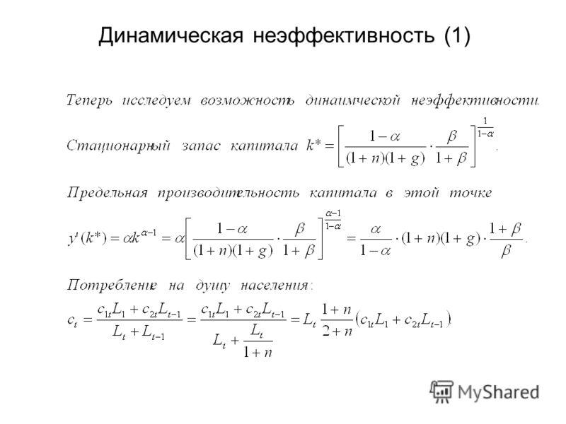 Динамическая неэффективность (1)