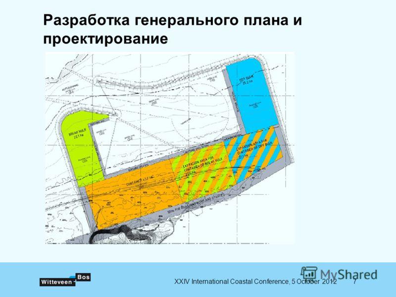 7XXIV International Coastal Conference, 5 October 2012 Разработка генерального плана и проектирование