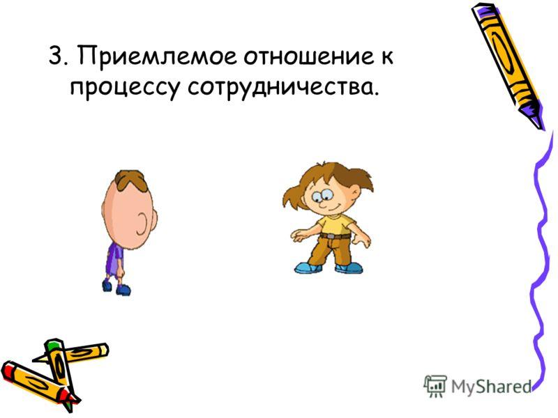 3. Приемлемое отношение к процессу сотрудничества.