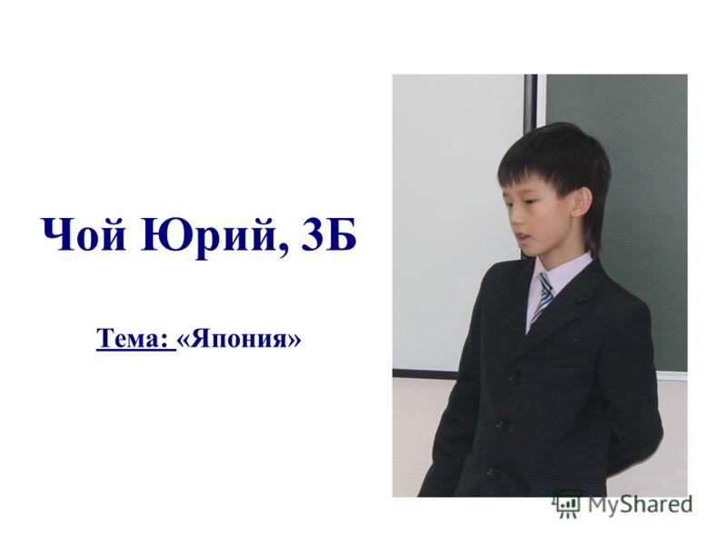 Чой Юрий, 3Б Тема: «Япония»