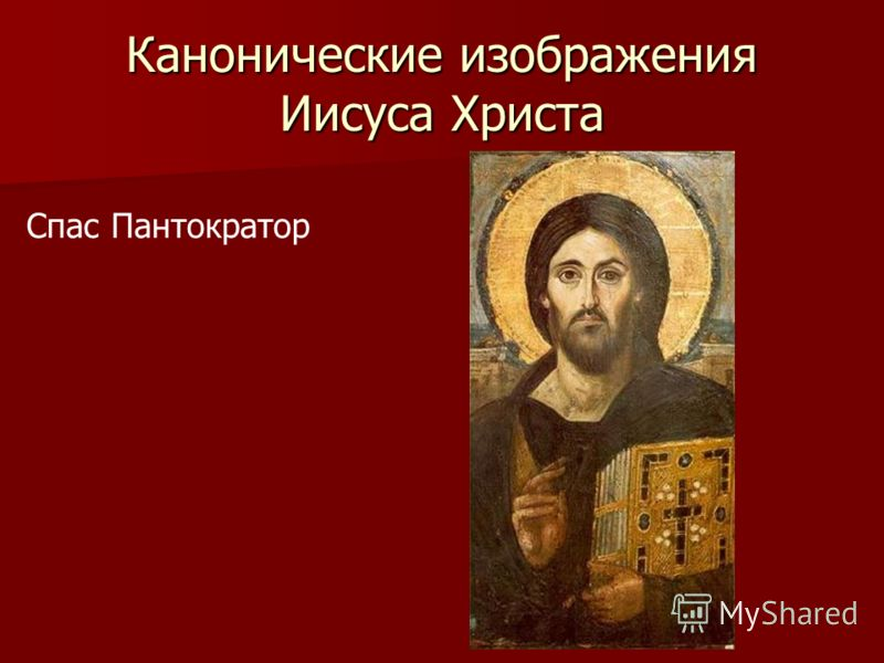 Канонические изображения Иисуса Христа Спас Пантократор