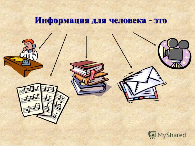 Информация для человека - это