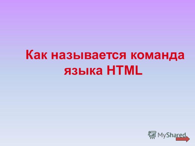 Как называется команда языка НТМL