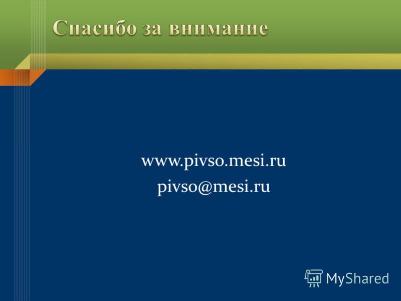 www.pivso.mesi.ru pivso@mesi.ru
