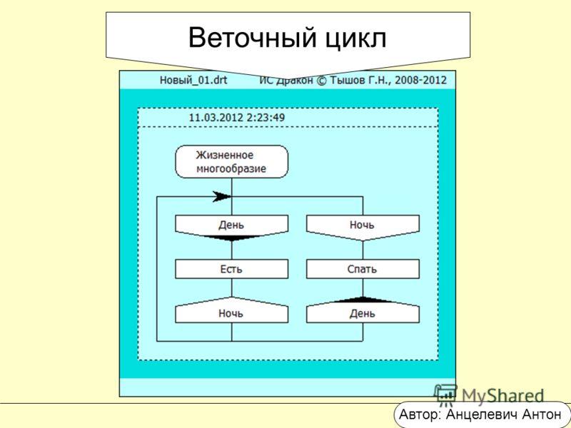 Веточный цикл Автор: Анцелевич Антон