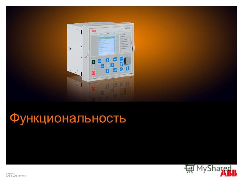 © ABB Oy June 3, 2013 | Slide 30 Функциональность