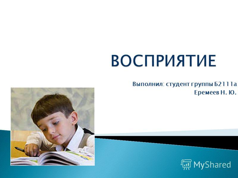 Выполнил: студент группы Б2111а Еремеев Н. Ю.