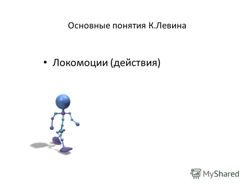 Основные понятия К.Левина Локомоции (действия)