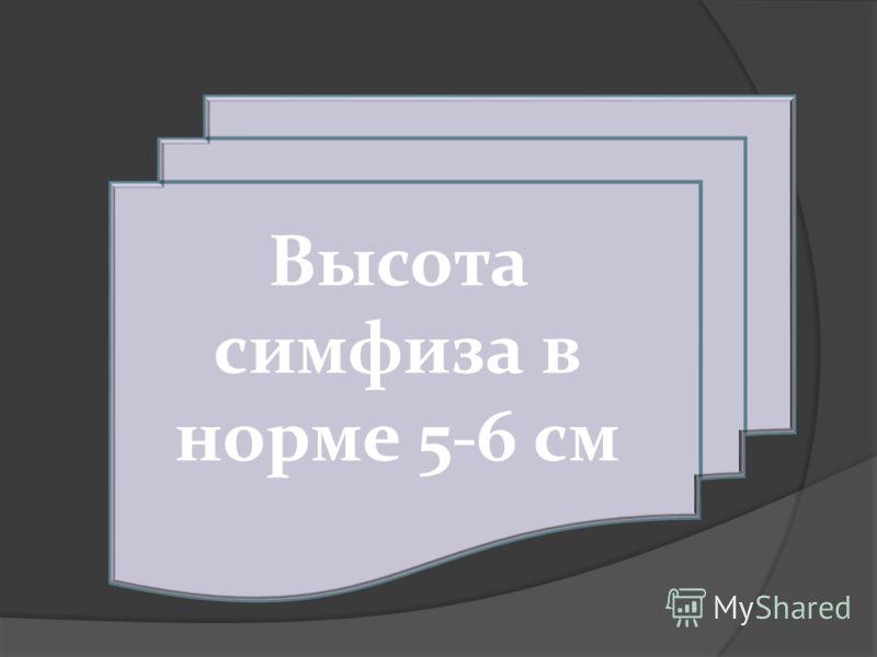 Высота симфиза в норме 5-6 см