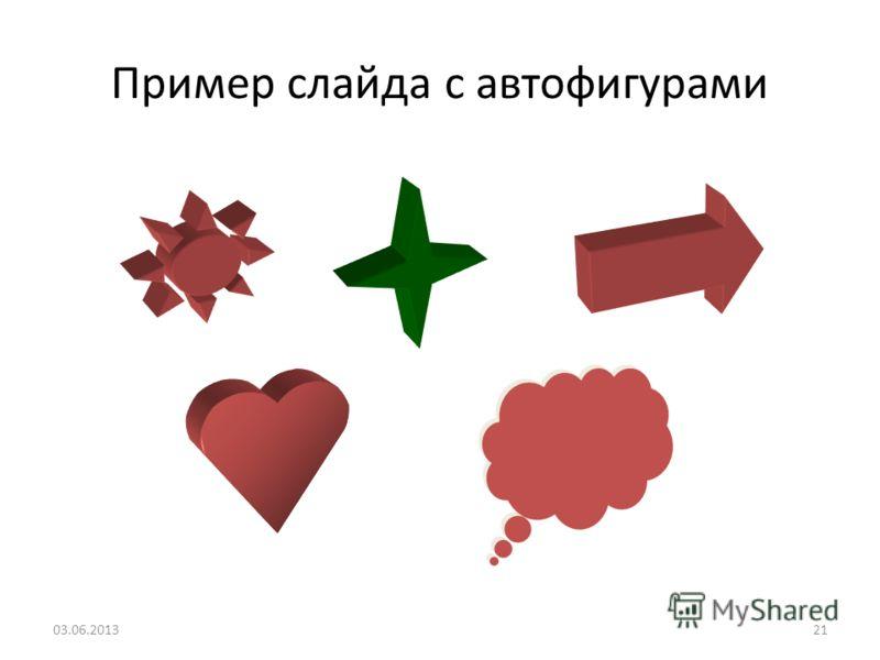20 Пример слайда с организационной диаграммой 03.06.2013