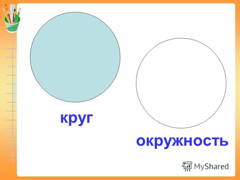 круг окружность