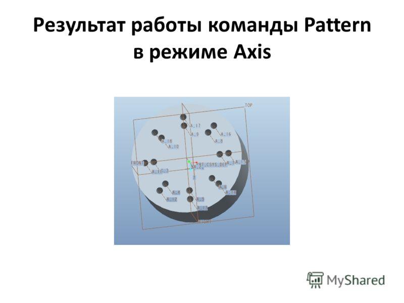 Результат работы команды Pattern в режиме Axis