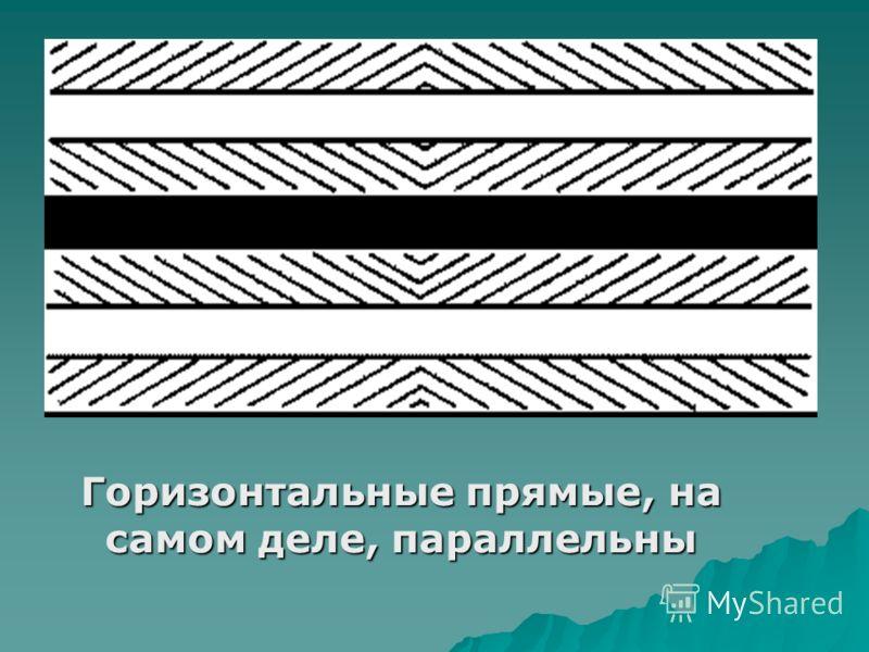 Горизонтальные прямые, на самом деле, параллельны