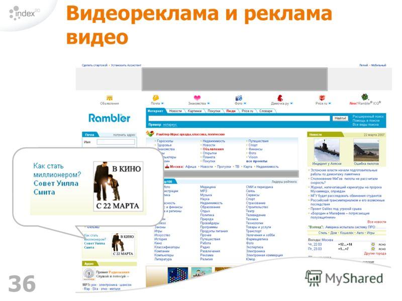 36 Видеореклама и реклама видео