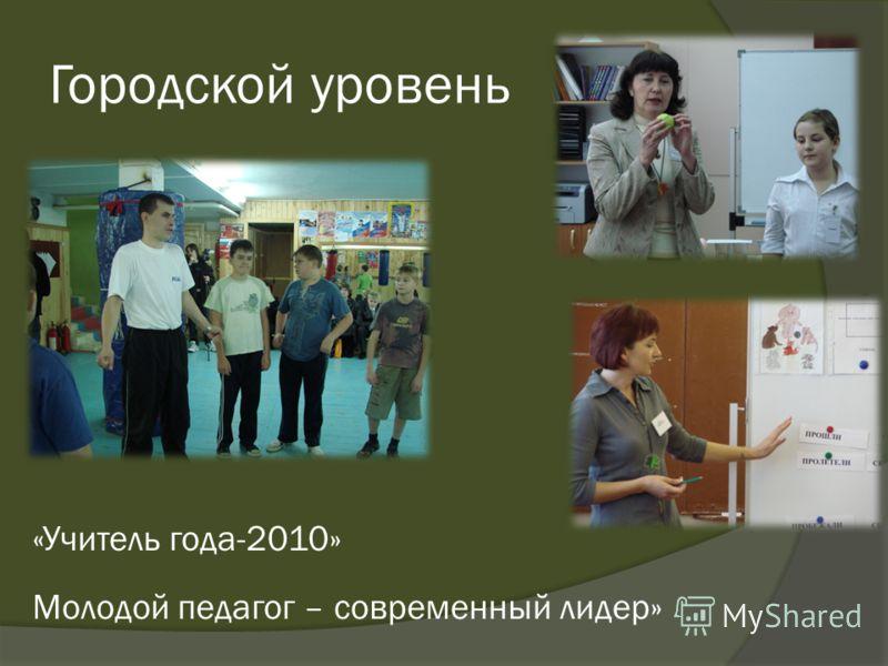 Городской уровень «Учитель года-2010» Молодой педагог – современный лидер»
