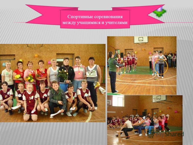 Спортивные соревнования между учащимися и учителями
