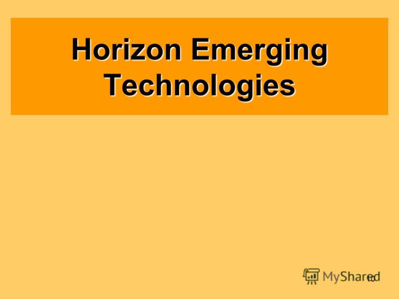 10 Horizon Emerging Technologies