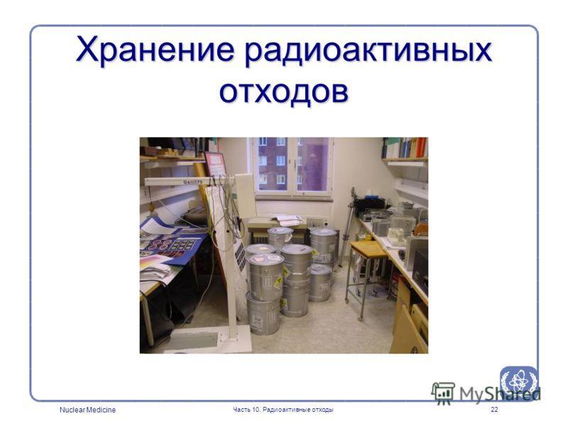 Nuclear Medicine Часть 10. Радиоактивные отходы22 Хранение радиоактивных отходов