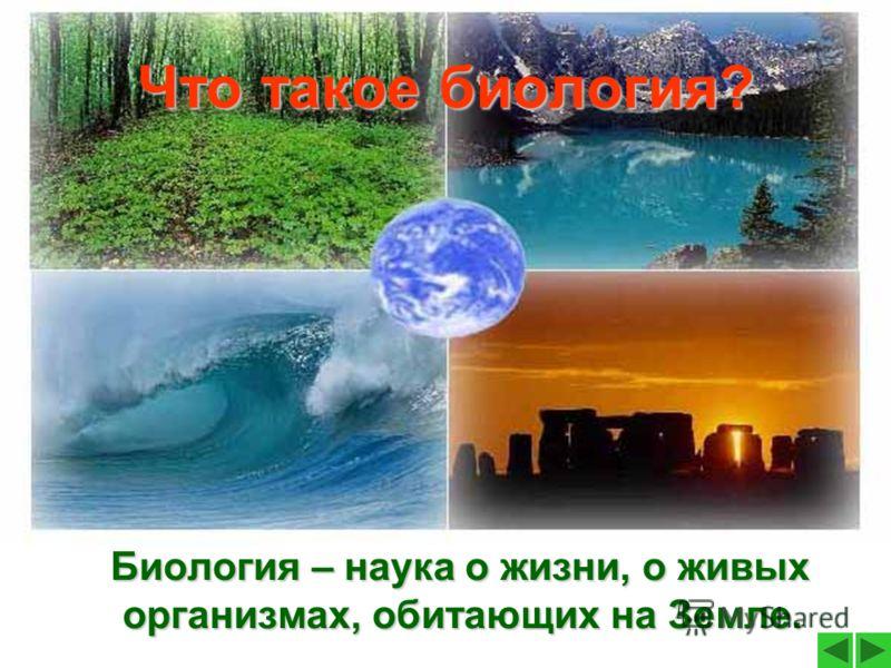 Что такое биология? Биология – наука о жизни, о живых организмах, обитающих на Земле.