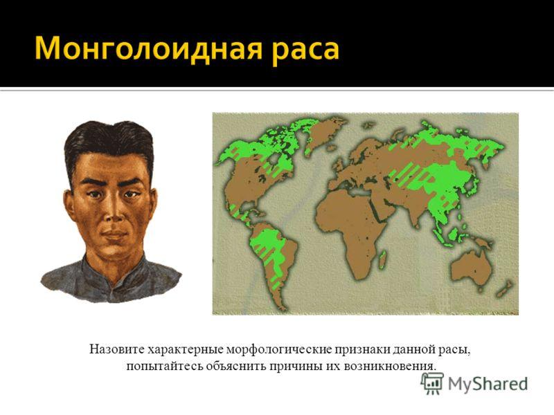 Назовите характерные морфологические признаки данной расы, попытайтесь объяснить причины их возникновения.