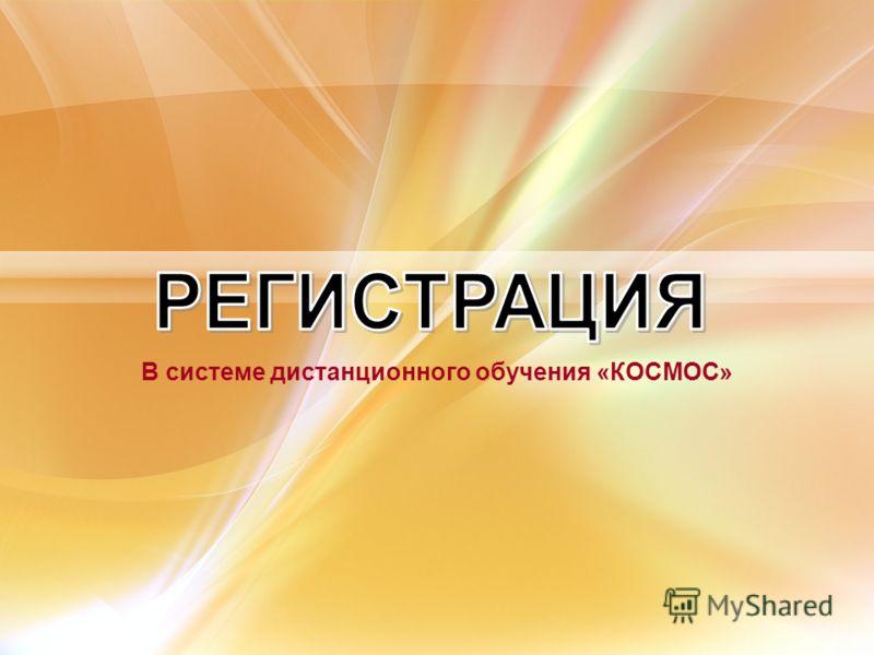 В системе дистанционного обучения «КОСМОС»