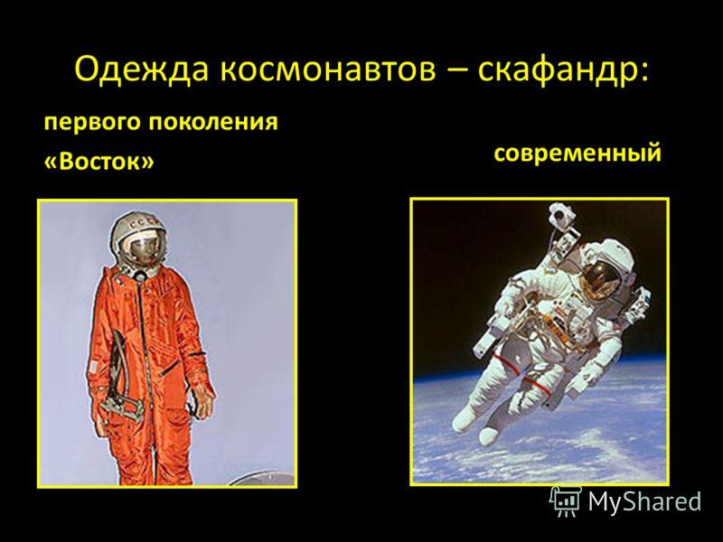 Одежда космонавтов – скафандр: первого поколения «Восток» современный