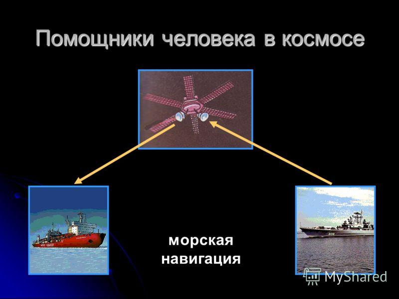 Помощники человека в космосе морская навигация