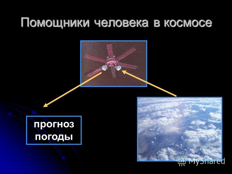 Помощники человека в космосе прогноз погоды