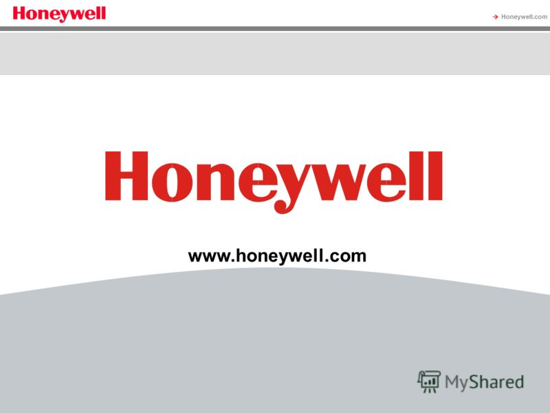 Honeywell Proprietary Honeywell.com 16 Document control number www.honeywell.com