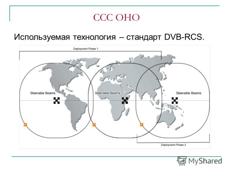 ССС OHO Используемая технология – стандарт DVB-RCS.