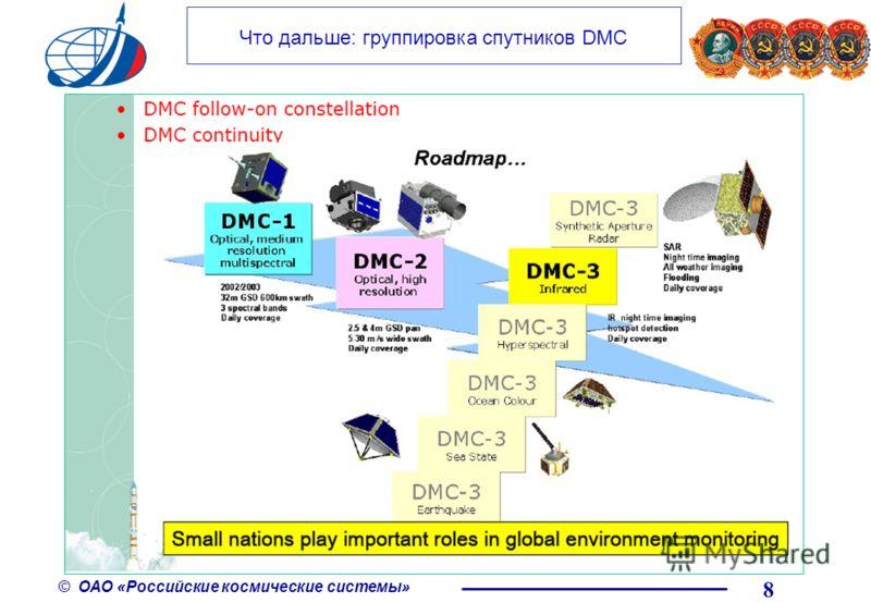 © ОАО «Российские космические системы» Что дальше: группировка спутников DMC 8