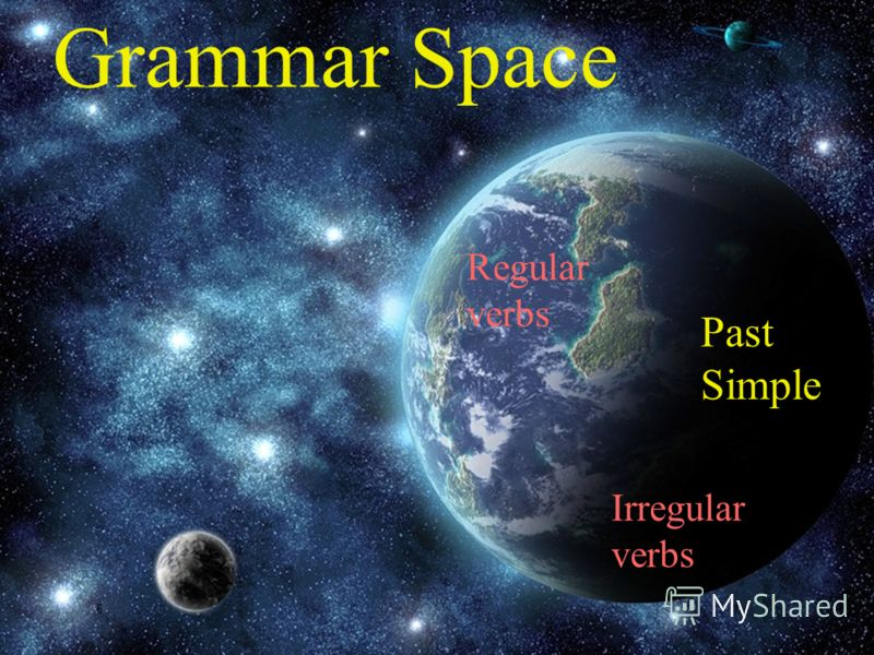 6 4 Grammar Space Past Simple Regular verbs Irregular verbs