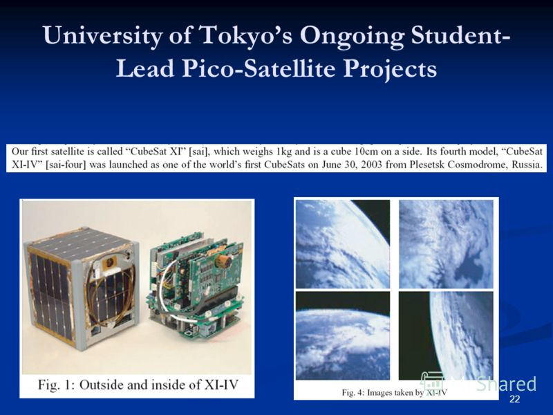 22 University of Tokyos Ongoing Student- Lead Pico-Satellite Projects