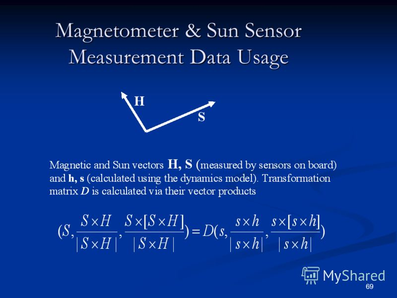69 Magnetometer & Sun Sensor Measurement Data Usage