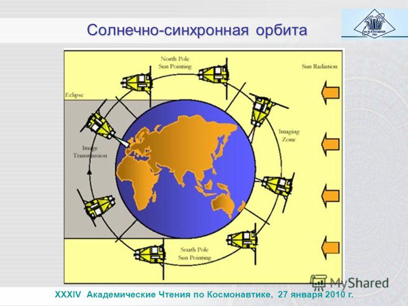 Солнечно-синхронная орбита XXXIV Академические Чтения по Космонавтике, 27 января 2010 г.