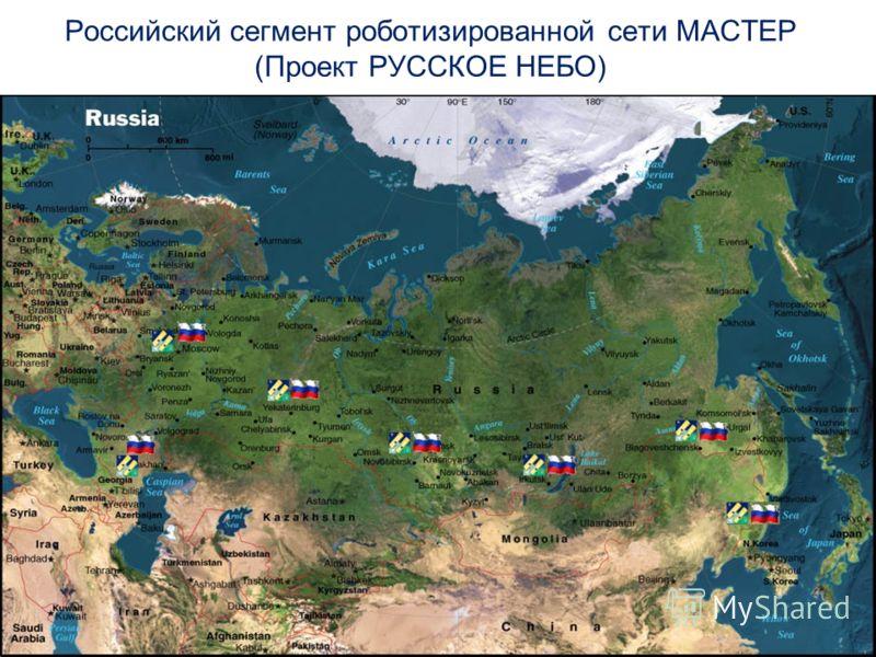 Российский сегмент роботизированной сети МАСТЕР (Проект РУССКОЕ НЕБО) Дизайн-шаблон