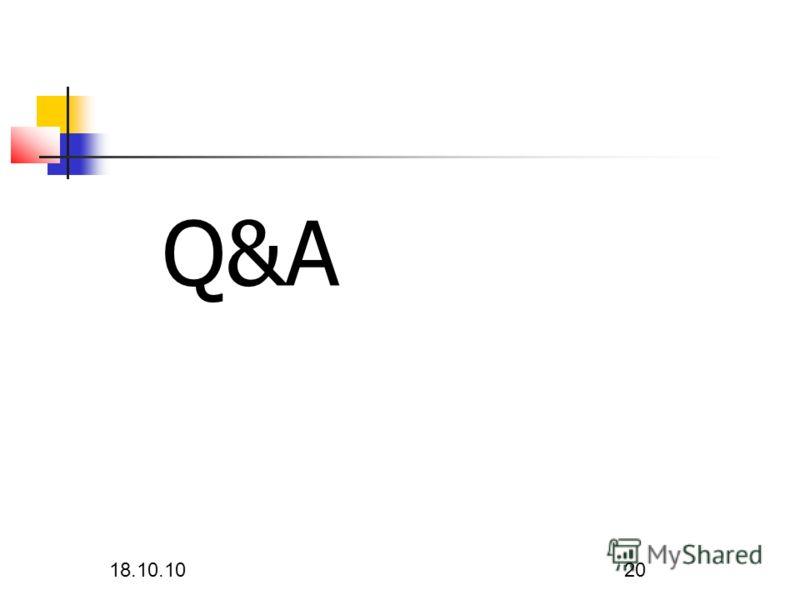 18.10.10 20 Q&A