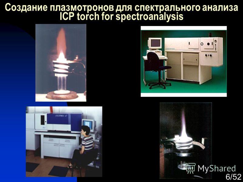 6/52 Создание плазмотронов для спектрального анализа ICP torch for spectroanalysis