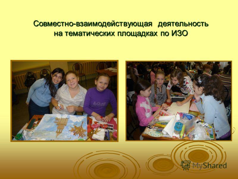 Совместно-взаимодействующая деятельность на тематических площадках по ИЗО