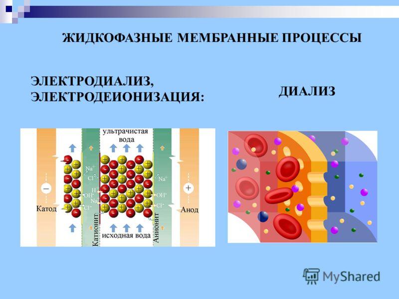 ЭЛЕКТРОДИАЛИЗ, ЭЛЕКТРОДЕИОНИЗАЦИЯ: ЖИДКОФАЗНЫЕ МЕМБРАННЫЕ ПРОЦЕССЫ ДИАЛИЗ