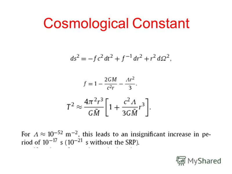 Cosmological Constant