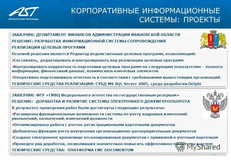 КОРПОРАТИВНЫЕ ИНФОРМАЦИОННЫЕ СИСТЕМЫ: ПРОЕКТЫ 04.06.2013 14 ЗАКАЗЧИК: ДЕПАРТАМЕНТ ФИНАНСОВ АДМИНИСТРАЦИИ ИВАНОВСКОЙ ОБЛАСТИ РЕШЕНИЕ: РАЗРАБОТКА ИНФОРМАЦИОННОЙ СИСТЕМЫ СОПРОВОЖДЕНИЯ РЕАЛИЗАЦИИ ЦЕЛЕВЫХ ПРОГРАММ Основой решения является Редактор ведомст