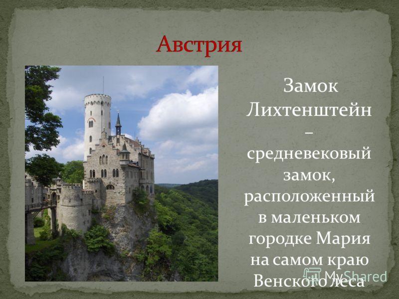 Замок Лихтенштейн – средневековый замок, расположенный в маленьком городке Мария на самом краю Венского леса
