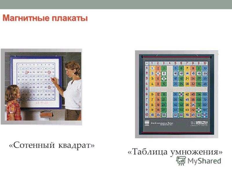 Магнитные плакаты «Сотенный квадрат» «Таблица умножения»