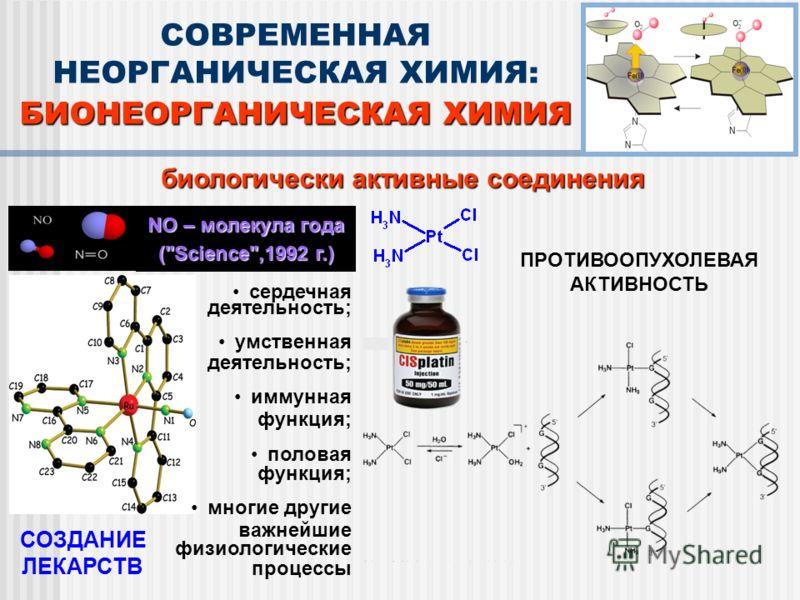 биологически активные соединения NO – молекула года (
