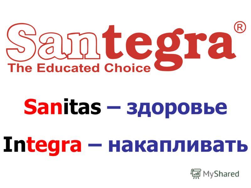Sanitas – здоровье Integra – накапливать