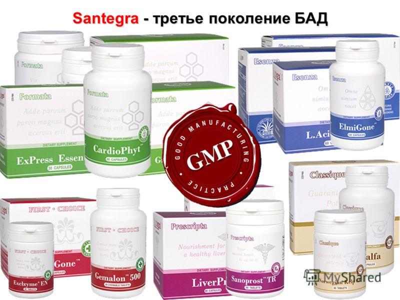 Santegra - третье поколение БАД