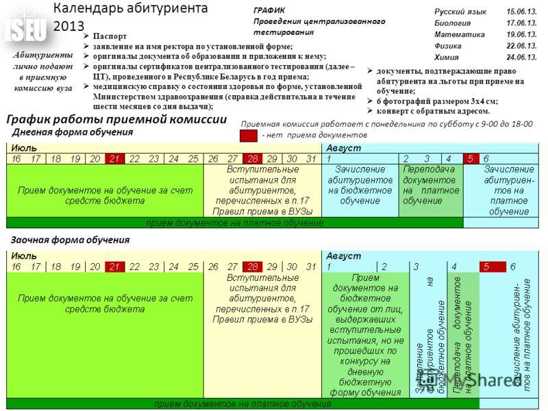 документ график работы: