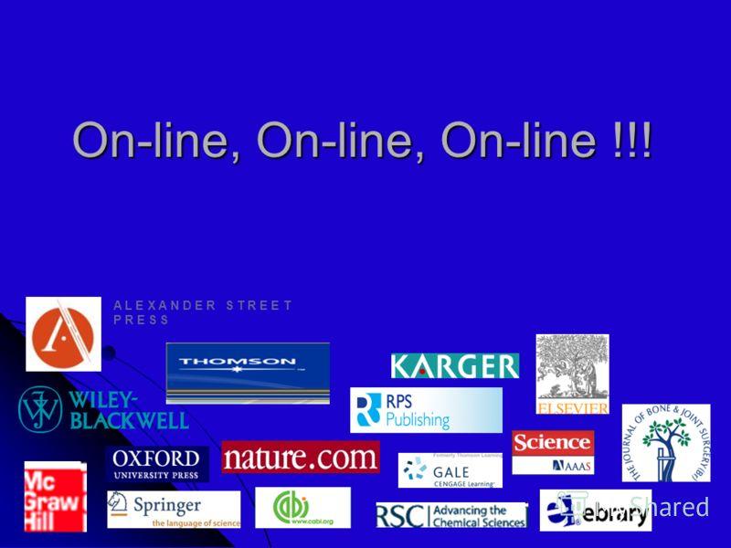 On-line, On-line, On-line !!! A L E X A N D E R S T R E E T P R E S S