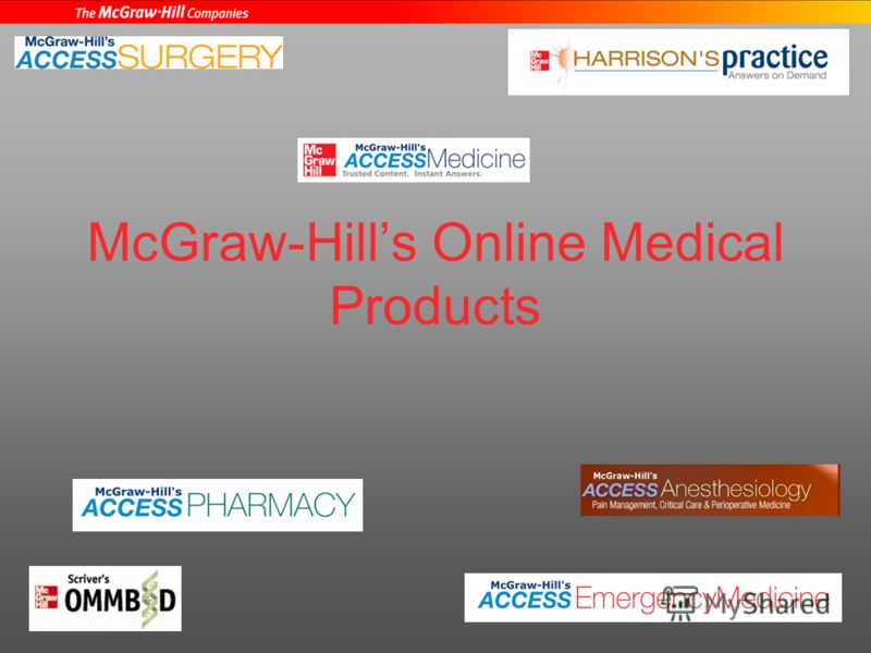 McGraw-Hills Online Medical Products